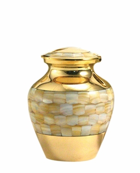 Mother of Pearl Elite Extra Small Cremation Urn