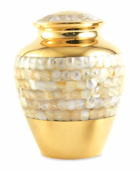 Mother of Pearl Elite Large Cremation Urn