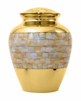 Mother of Pearl Elite Medium Cremation Urn