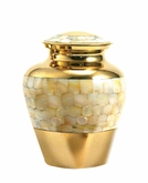 Mother of Pearl Elite Small Cremation Urn