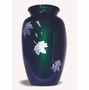 Mother Of Pearl Falling Leaves Cremation Urn