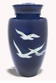 Mother Of Pearl Going Home Doves Cremation Urn