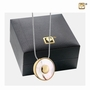 Mother Of Pearl Gold Vermeil Sterling Silver Cremation Jewelry Pendant Necklace