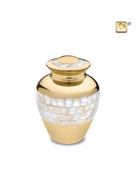 Mother of Pearl Medium Cremation Urn
