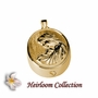Motherly Love Cremation Jewelry in 14k Gold Plated Sterling Silver