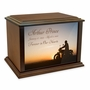 Motorcycle at Sunset Eternal Reflections Wood Cremation Urn - 3 Sizes