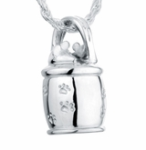 Mouse Cookie Jar Sterling Silver Pet Cremation Jewelry Pendant Necklace