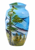 Moutain Scene Hand Painted Cremation Urn