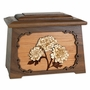 Mums with 3D Inlay Maple Wood Astoria Cremation Urn