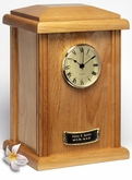 Natural Clock Tower Wood Cremation Urn