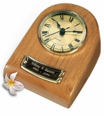Natural Mini-Clock Wood Keepsake Cremation Urn