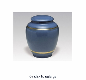 Navy Blue Classica Porcelain Keepsake Cremation Urn