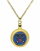 Navy Brass Cremation Jewelry Necklace
