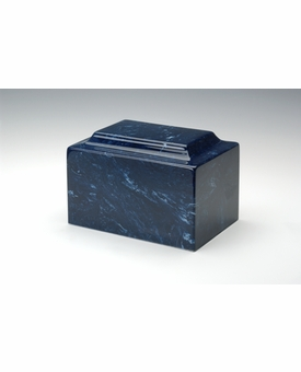 Navy Classic Cultured Marble Cremation Urn Vault - Engravable