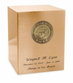 Navy Medallion Seamless Bronze Cremation Urn
