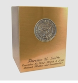 Navy Sheet Bronze Snap-Top Cremation Urn