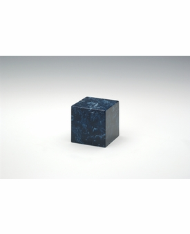 Navy Small Cube Cremation Urn - Engravable