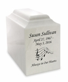 Niche Cultured Marble Cremation Urn Vault - Engravable - 34 Color Choices