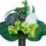 Niche Lime Hydrangea with Gray Succulent Silk Flowers for Cemeteries