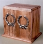 Oakwood Companion Cremation Urn with Wreath Applique