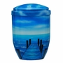 Ocean Dock Hand Painted Cremation Urn