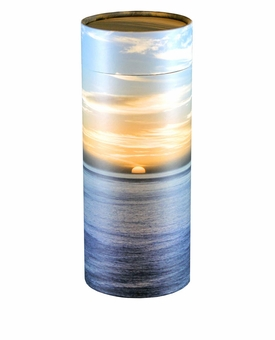 Ocean Sunset Eco Friendly Cremation Urn Scattering Tube in 6 sizes