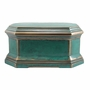 Octagon with Roses Cold Cast Bronze Finish Cremation Urn