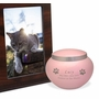 Odyssey Paw Print Pink Solid Brass Cremation Urn - 4 Sizes