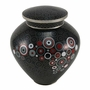 Onyx Opulence Cloisonne Copper and Enamel Cremation Urn