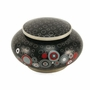 Onyx Opulence Cloisonne Copper and Enamel Keepsake Cremation Urn