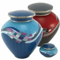 Opulence Cloisonne Copper and Enamel Cremation Urns
