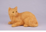 Orange Shorthair Cat Hollow Figurine Pet Cremation Urn - 2705