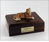 Orange Tabby Cat Figurine Pet Cremation Urn - 318
