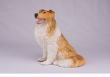 Orange White Black Collie Hollow Figurine Pet Cremation Urns - 2735