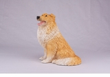 Orange White Collie Hollow Figurine Pet Cremation Urns - 2734