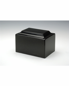 Orca Black Classic Cultured Marble Cremation Urn Vault - Engravable