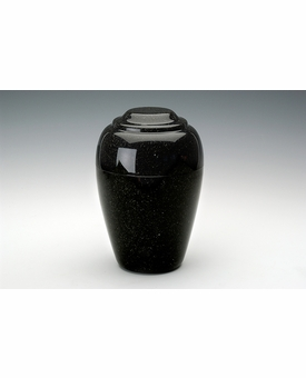 Orca Black Small Grecian Cremation Urn - Engravable