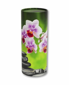 Orchid Eco Friendly Cremation Urn Scattering Tube in 2 Sizes