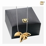 Orchid Gold Vermeil Cremation Jewelry Pendant Necklace