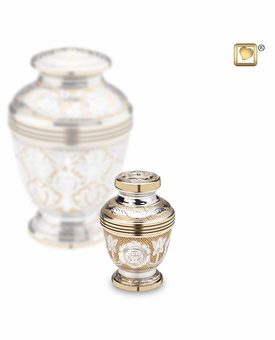 Ornate Floral Keepsake Cremation Urn