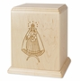 Our Lady of Cobre Maple Wood Newport Laser Carved Cremation Urn