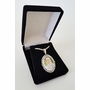 Oval Photo Pendant Necklace With Leaf frame