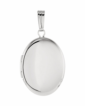 Oval Sterling Silver Memorial Locket Jewelry Necklace