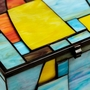 Paragon Geometric Large Stained Glass Memory Chest
