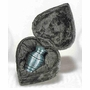 Patina Token Brass Keepsake Cremation Urn with Heart Box