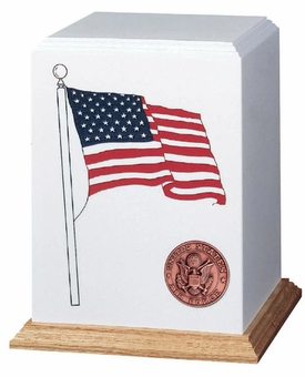 Patriot Military Cultured Stone Cremation Urn