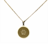 Paw Print 14kt Gold Cremation Jewelry Necklace