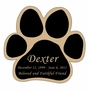 Paw Print Nameplate - Engraved Black and Tan - 3-1/2  x  3-1/2