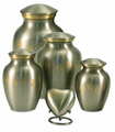 Paw Prints Classic Pewter Pet Cremation Urn Series - Engravable