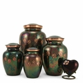 Paw Prints Classic Raku Pet Cremation Urn Series - Engravable